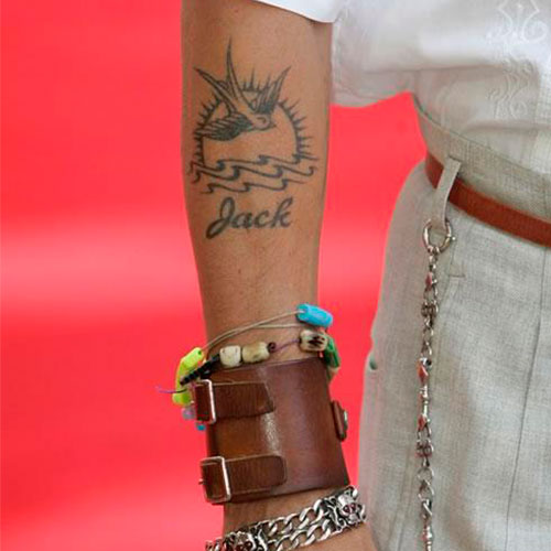 Johnny Depp Tattoos Sorry Mom
